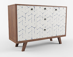 3D console Chest of drawers