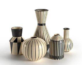Vase set 02 3D