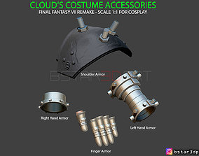 Cloud Armor Accessories - Final Fantasy VII 3D print model