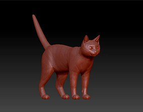 cat pet decoration statue 3D printable model