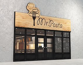 cafe Restaurant 3D Model Interior Design