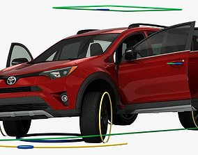 3D Toyota RAV4 Adventure 2018 Rigged
