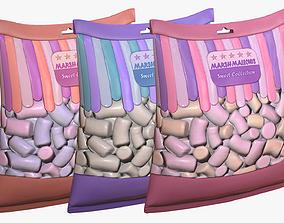 Pack of Marshmallows 3D model