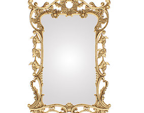 Mirror classic rococo 3D