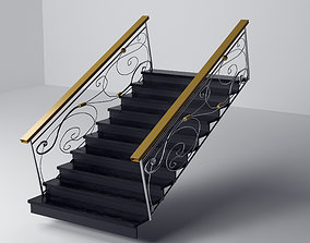 3D print model eclectic style staircase