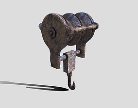 Rusty Beam Hook Prop 3D model