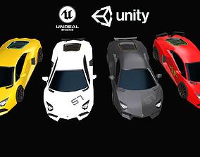3D model game-ready PBR Lamborghini Aventador