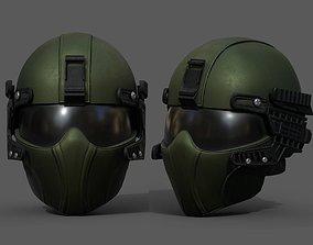 Helmet scifi military combat fantasy futuristic 3D model