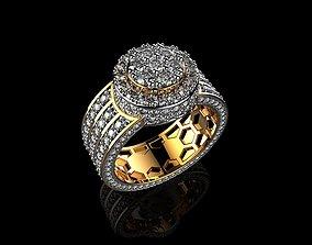 3D printable model Mens Gold Rings With Rings Mens 3
