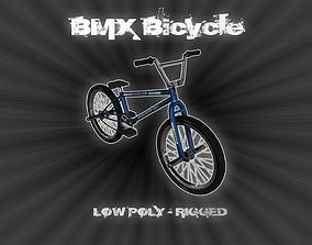 3D model Pro BMX Bicycle - Low Poly - Rigged