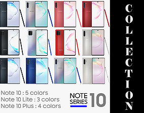 3D model Samsung Galaxy Note 10 Series Collection