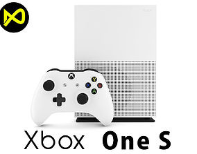 Xbox One S Complete Set 3D model