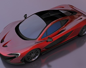 McLaren P1 3D asset low-poly
