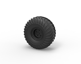 Diecast Offroad wheel 17 3D print model