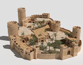 3D asset ancient desert fort