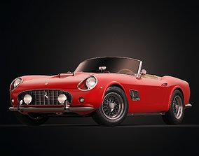 3D california Ferrari 250 GT California Spyder LWB 1962