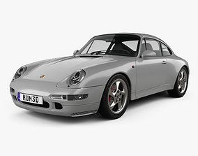 3D model Porsche 911 Carrera 4S Coupe 993 1997