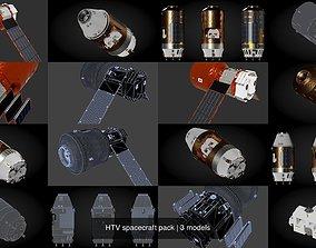 3D model HTV spacecraft pack