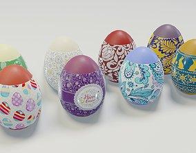 Easter Eggs 3D Model VR / AR ready