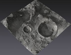 Large-Scale Moon Environment - Craters 3D asset