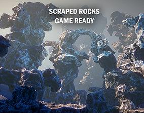 3D model Scraped rocks