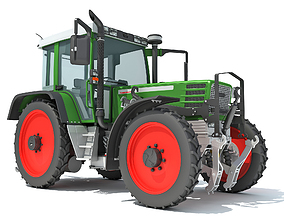 3D model combine Tractor