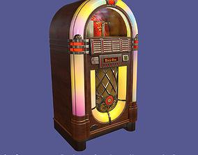 Classic Vintage Wooden Jukebox Rockola 3D asset