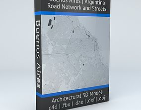 3D Buenos Aires Road Network and Streets