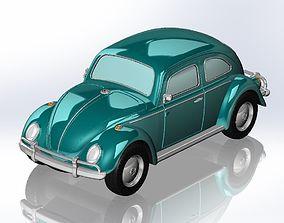 3D printable model VolksWagen Beetle 1963
