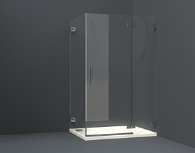 Bathroom collection of shower corners bath 3D asset