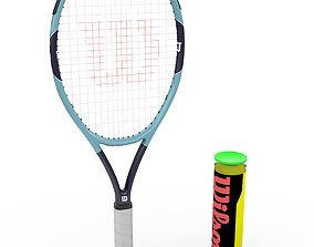 Tennis Racket Wilson 3D model realtime