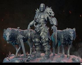 3D warrior Wolfman