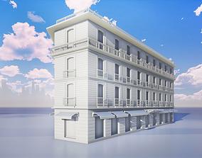 3D Europeen-French Corner Building