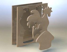 Rooster asm 3D model