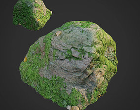 VR / AR ready 3d scanned nature stone 020