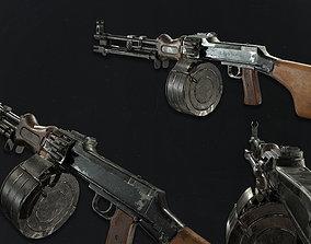 RPD machinegun 3D asset low-poly