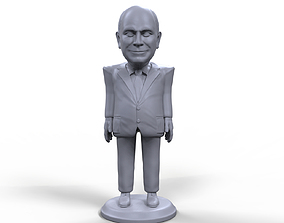 Dick Cheney stylized high quality 3D printable miniature