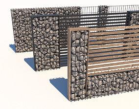 3D model Gabion fence