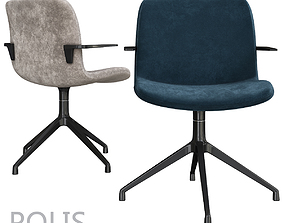 VR / AR ready FANTONI POLIS Armchair 3d model