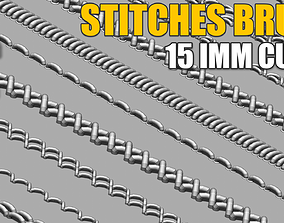 IMM Stitches Brush for Zbrush and Substance 3D model
