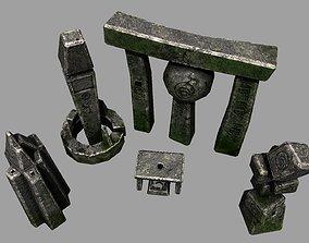3D model Ancient Alien Monolith Pack