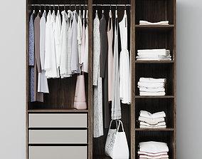 wardrobe clothes storage 3D model