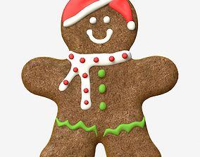 Gingerbread Man 3D model realtime
