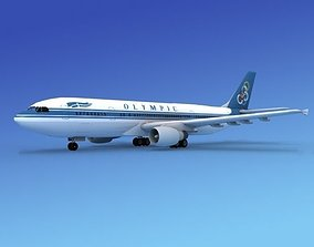 Airbus A300 Olympic 3D model