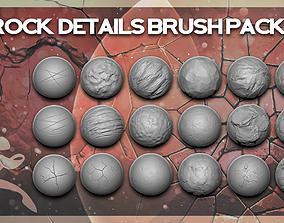 Rocks Details Brush Pack - 32 Brushes 3D