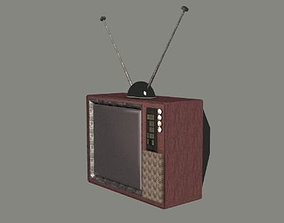 Classic TV 3D asset