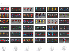 Currently in this pack there are 100 robot and 3D asset 1