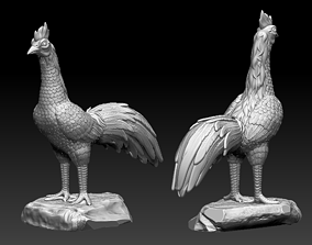 Rooster Fighting Cock 3D print model