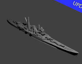 Japanese Mogami Class Cruiser Warship 3D printable model