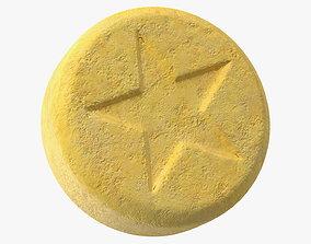 Ecstasy Pill with Star Imprint 3D model